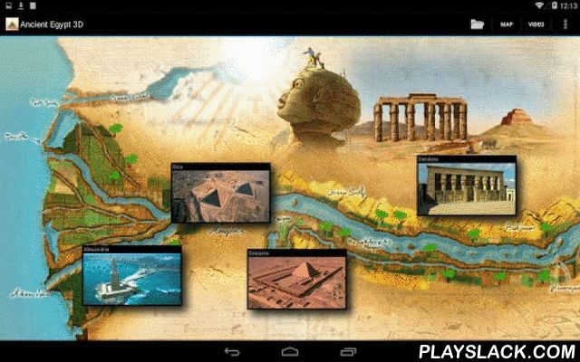 Ancient Egypt 3D (Lite)  Android App - playslack.com , A fantastic journey through the wonders of the land of the Pharaohs reconstructed by Altair4 in all their glory using 3D computer graphics. By means of a swipe across the screen you will travel along the Nile from Alexandria to Abu Simbel discovering the internal structure of two of the Seven Wonders of the Ancient World: the Lighthouse of Alexandria and the Great Pyramid of Giza. With the 3D flight feature you can interactively fly over…