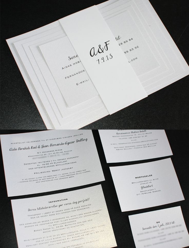 Pappersboden Anna Göran Design: Inbjudningskort och menykort