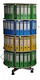 Archivačná otočná skriňa Flexi - 4 poschodia šedá - Kovový nábytok Rudeta - šatníkové skrinky, kovové skrine, dielenský nábytok