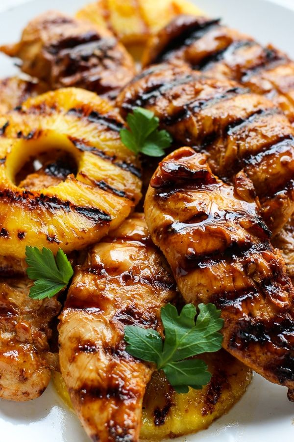 Hawaiian Chicken With Coconut Rice Recipe Grilled Chicken