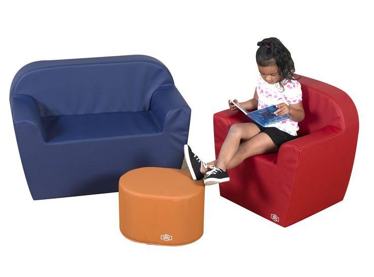 "Children's Factory 12"" Club Furniture Set - Blue/Orange/Red CF805-100"