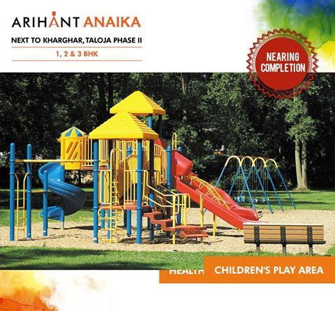Arihant Anaika - Affordable housing in half the price of Kharghar  Next to Kharghar, Taloja Phase II 1,2 & 3 BHK - Riverside County  Children's Play Area  www.asl.net.in/arihant-anaika.html  #ArihantAnaika #RealEstate #Kharghar #NaviMumbai #Property