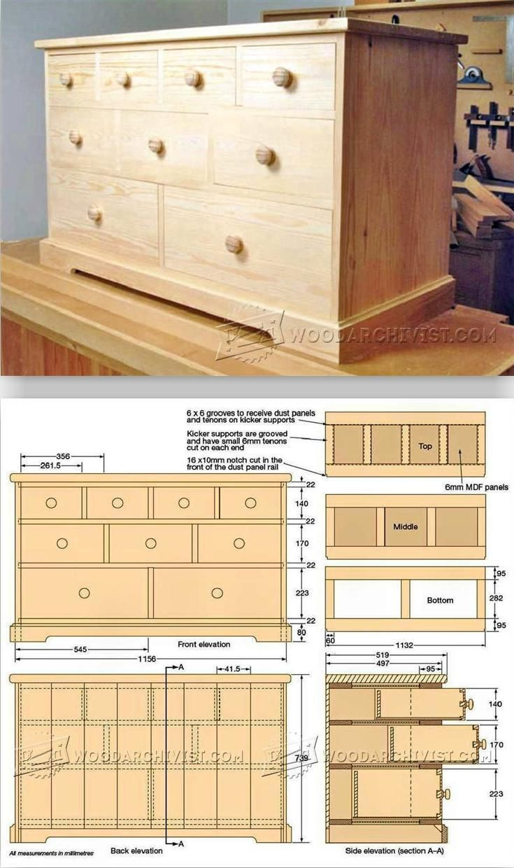 Build Chest Of Drawers   Furniture Plans And Projects | WoodArchivist.com