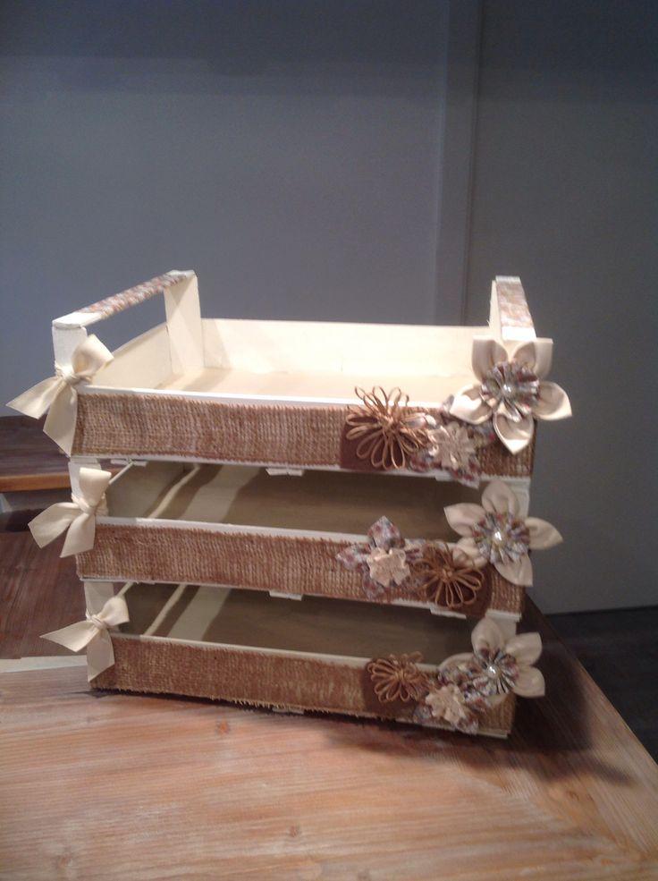 Cagettes pour paniers gourmands de Noël