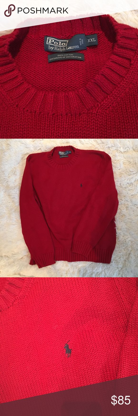Polo by Ralph Lauren Cotton Sweater No snags, great condition, worn never, could be a great oversized sweater over some leggings for the lady's item is Mens Polo by Ralph Lauren Sweaters Crewneck