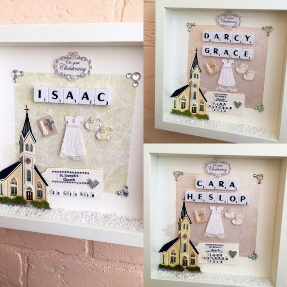 Personalised Christening Gift Baptism Gift Baby by AllInAFrame