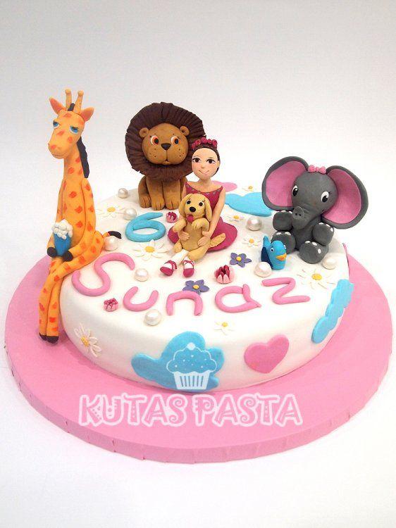 Hayvan Figürlü Pasta - Hayvan Sevgisi Kız Pastası - Animal Lover Cake