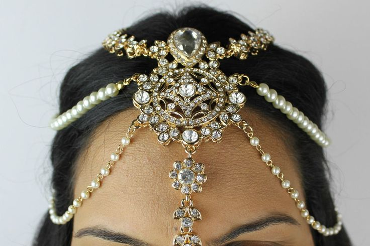 PEARL AND CRYSTAL HEADPIECE PARTY PROM BRIDAL HOMECOMING