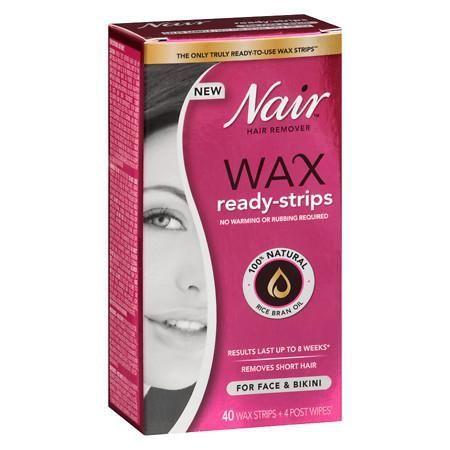 Nair Wax Ready-Strips Face - 40 ea