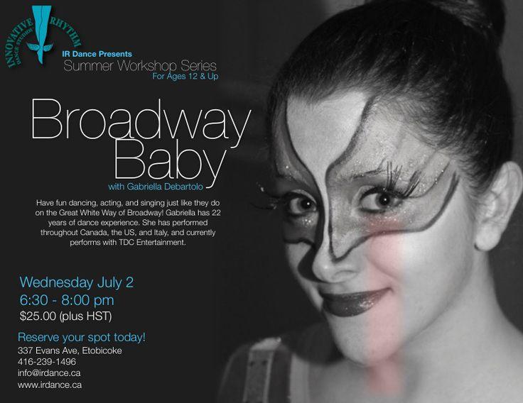 Broadway Baby!  Fun-filled workshop at Innovative Rhythm Dance Studios in Toronto.