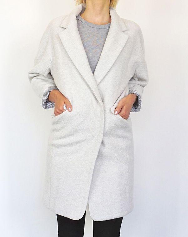 ITEM 2016AW AROMAS Wool Cocoon Coat / Light Grey