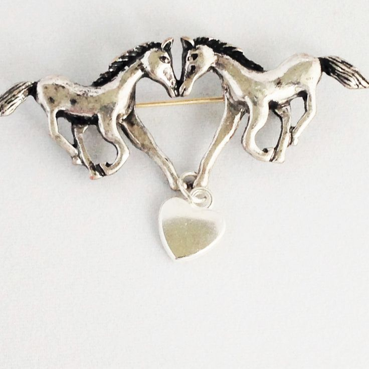 Horse Brooch, antique silver metal, horse lovers gift, equestrian, stock pin, horseriding, horse gift, personalised gift, UK by MillieFleurUK on Etsy