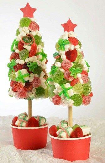 arbol de navidad con chuches para regalar o compartir