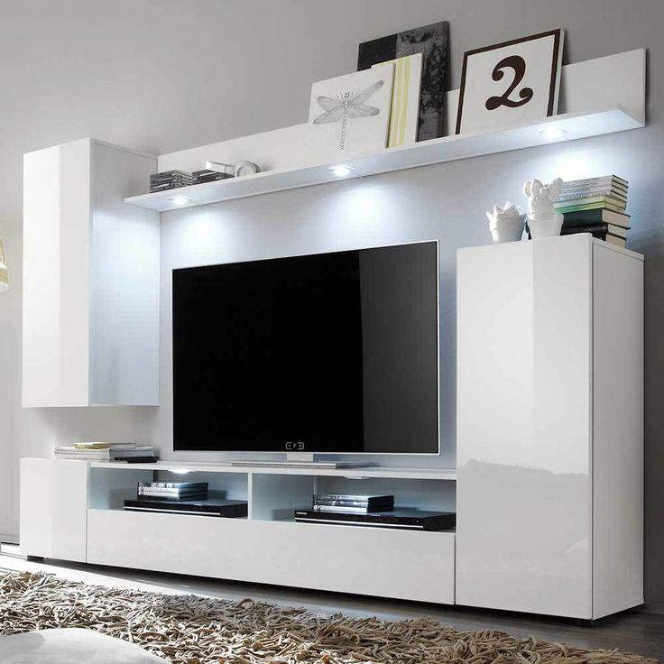 TV Wohnwand In Weiss Hochglanz Online Kaufen Jetzt Bestellen Unter Moebelladendirektde Wohnzimmer Schraenke Wohnwaende Uiddea22113 6cf6 54f6