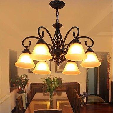 זכוכית 6 אורות חיים מודרניים חדר יוקרה בסגנון פסטורלי המדינה lightmyself® – ILS ₪ 871.96