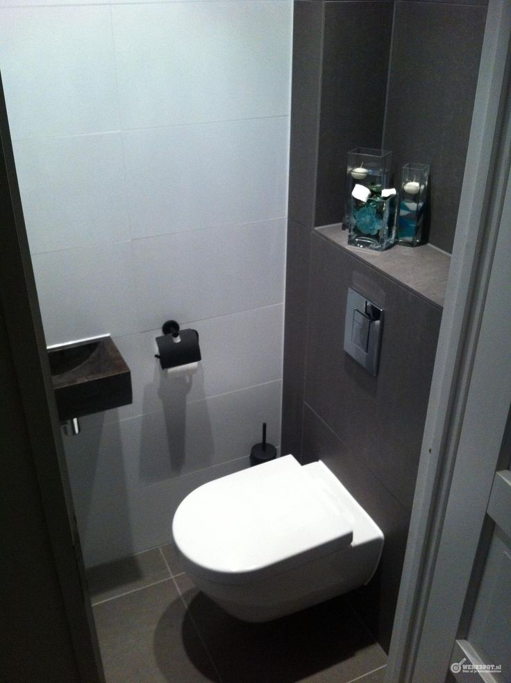 14 best images about toiletruimte on pinterest toilets small sink and modern toilet - Kleine kamer d water met toilet ...
