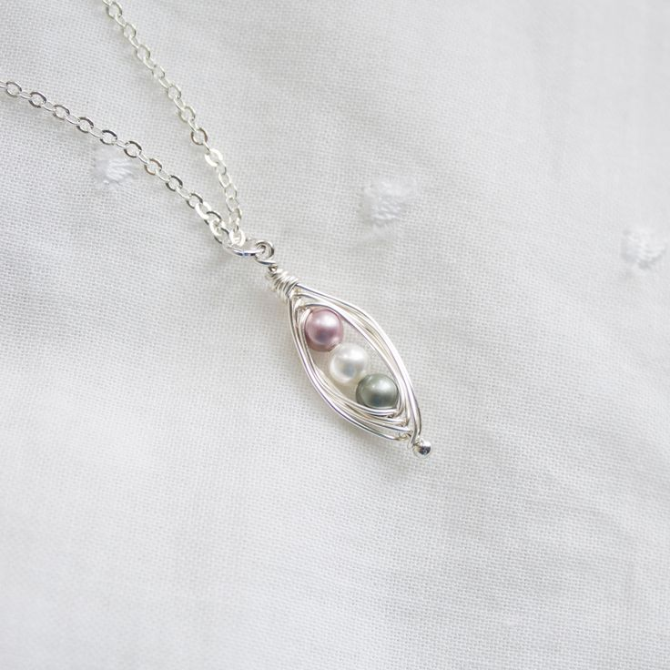 Gift for Mothers of loss / Miscarriage Jewelry / Healing for parents / angel baby necklace / Two peas in a pod necklace