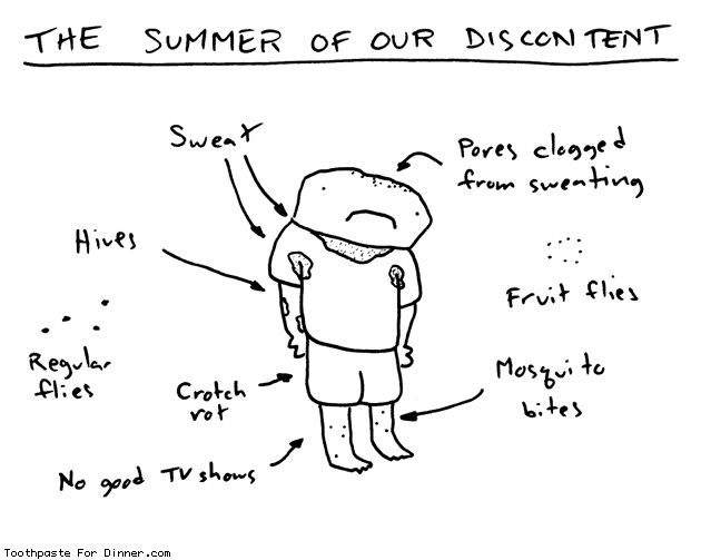 Drew at Toothpaste For Dinner illustrates the harsh realities of summer | this is every summer for me.