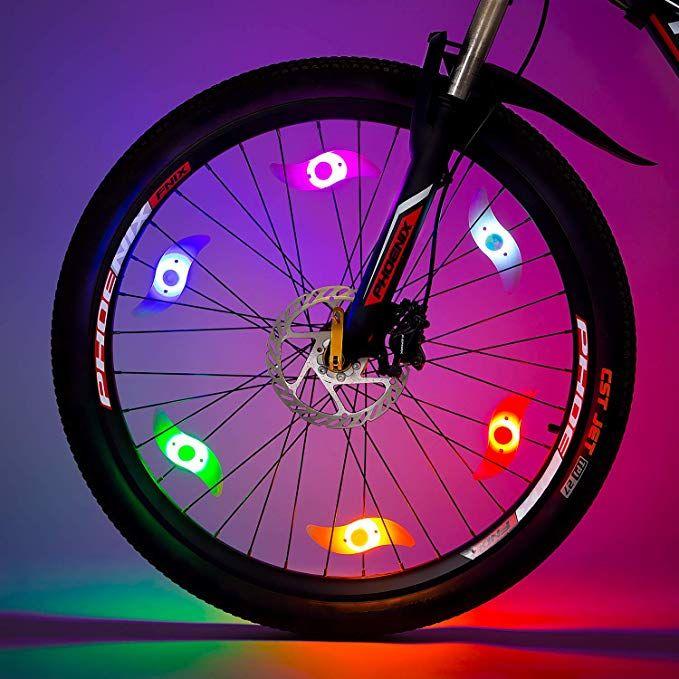 Willceal Bike Spoke Light Bike Wheel Light Tyre Wire Right With