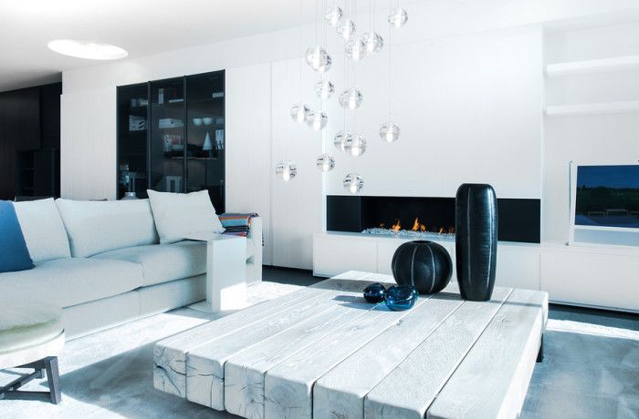 17 beste idee n over moderne woonkamers op pinterest huiskamer moderne inrichting en modern for Moderne woonkamer
