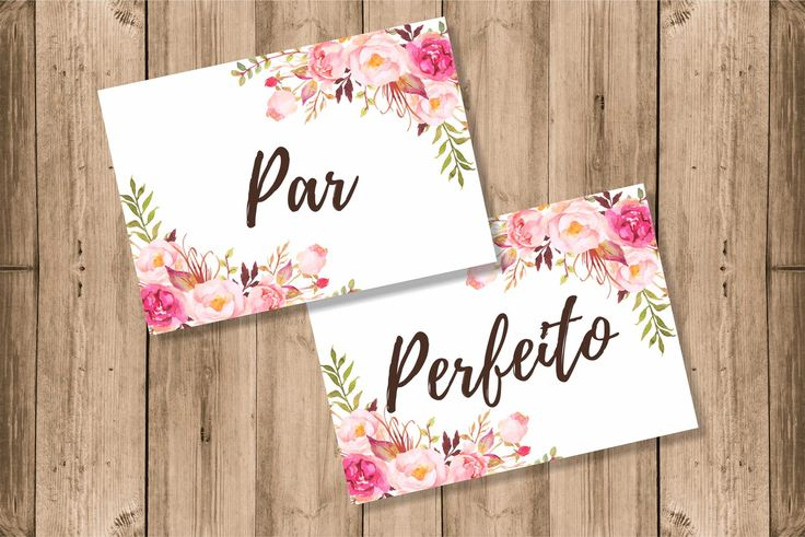 Placa para Cadeira dos Noivos floral rosa