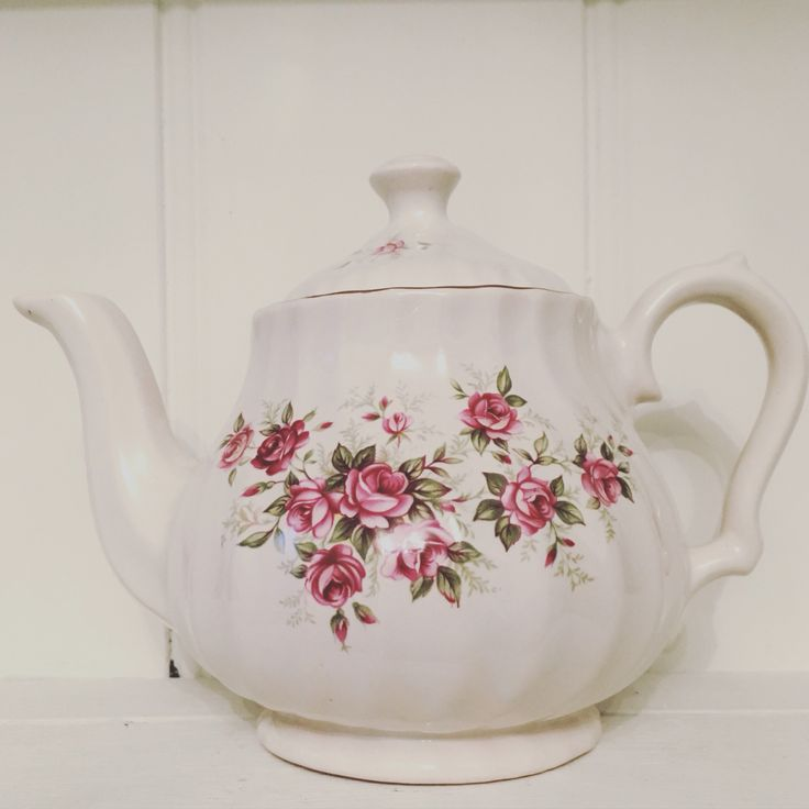 Vintage rose teapot.