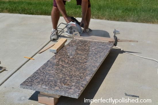 how to cut and install granite