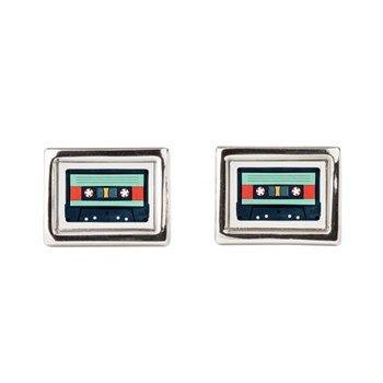 Indigo Cassette Rectangular Cufflinks at cafepress store: AG Painted Brush T-Shirts. #cufflinks #cassette #formalwear