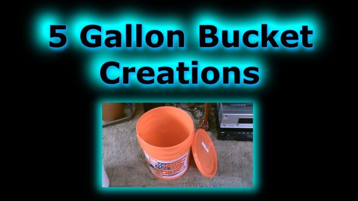 5 Gallon Bucket Creations for Off-Grid Camping or Emergencies #Preppers - YouTube Gloryma Nazario shared a video