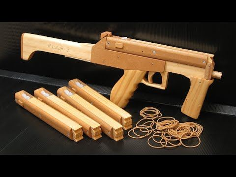 Tutorial - full auto mag fed rubber band gun - YouTube