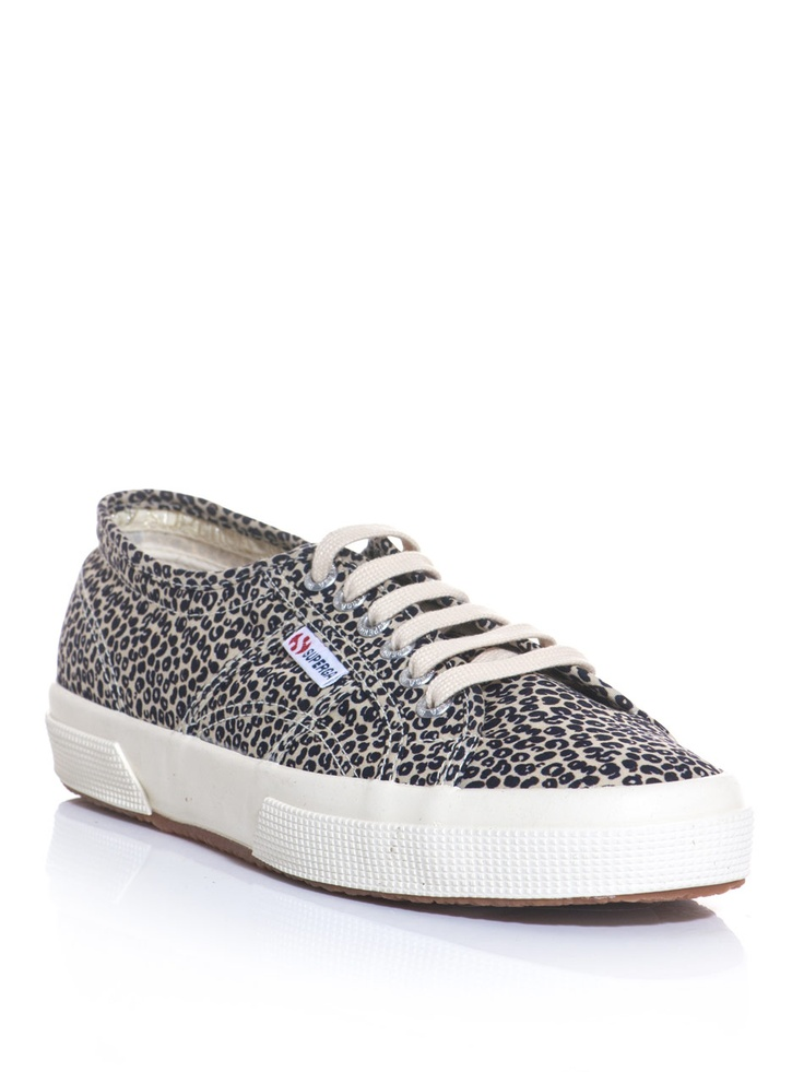 SUPERGA - 2750 spotted leopard trainers.