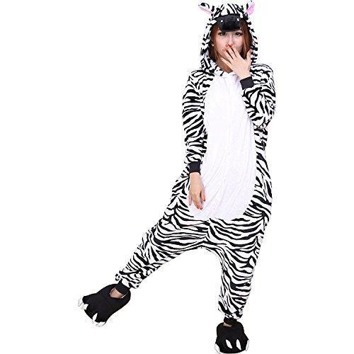 Oferta: 21.99€ Dto: -45%. Comprar Ofertas de ABYED Kigurumi Pijamas Unisexo Adulto Traje Disfraz Adulto Animal Pyjamas,Cebra Adulto Talla S -para Altura150-158cm barato. ¡Mira las ofertas!