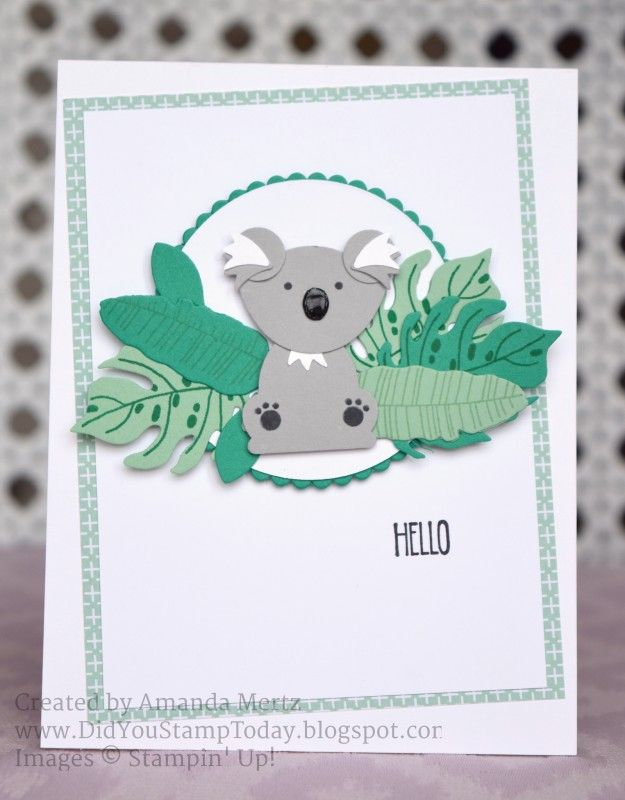 For more details please see my blog: http://didyoustamptoday.blogspot.com/2016/09/hello-mate-fab-friday-97-stampin-up.html  Thanks for looking!  Did you stamp today?