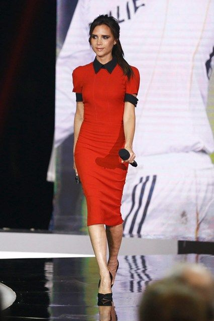 China Central Television show appearance, Beijing - June 23 2013  Victoria Beckham wore a dress from her Icon collection.