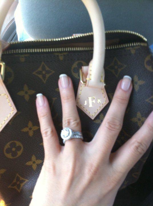 Monogrammed Louis Vuitton (my wedding day gift!)