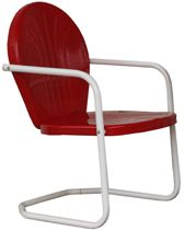 Retro Metal Lawn Chair, If You Were Sky Blue, I Would Really Want You