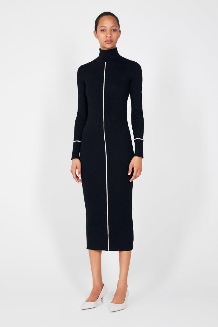 Zara Ribbed Dress Ribbed Dresses Street Style Dress Long Knitted Dress