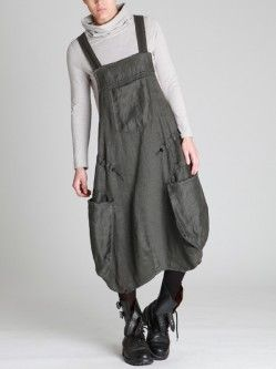 THICK LINEN OVERALLS