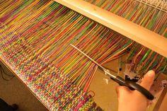 Kelly Casanova: Cutting handwoven cloth, one method