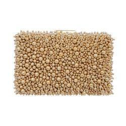 Bestickte Clutch aus Perlen. Zu mieten bei dresscoded.com.#dresscoded