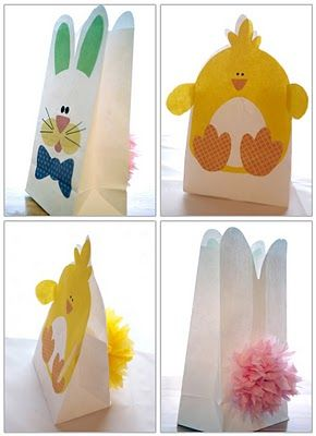 FREE Bunny and Chick Easter Bags download