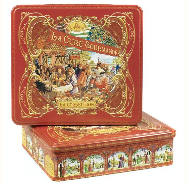 Boîte à biscuits Métal Carré Rouge – Commandez | Collection Rouge
