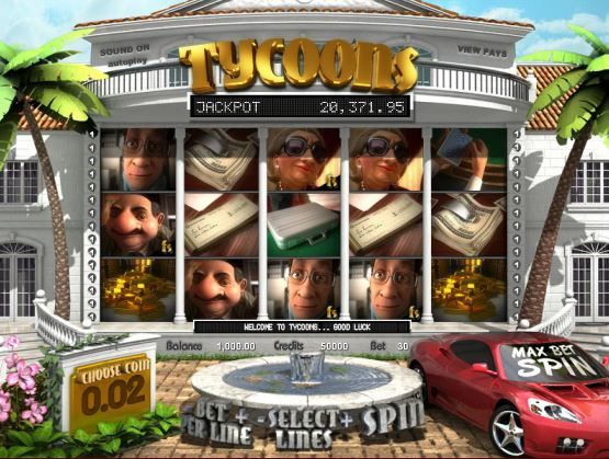 Play Tycoons, a 3D Slot Machine @ Sweet Bet