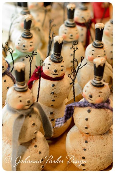 Happy-Stack-Snowmen by Johanna Parker Design for @Primitives by Kathy