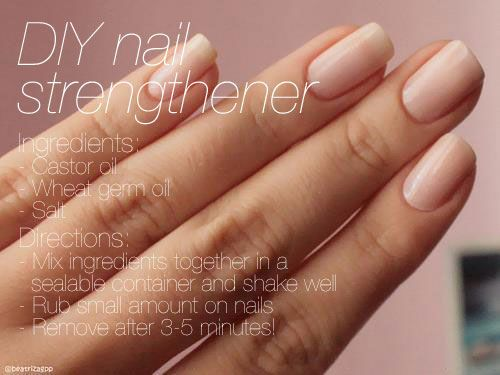 #DIY #nail strengthening treatment