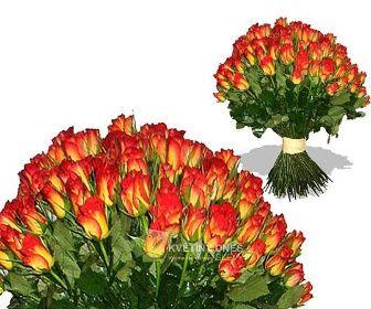 Náruč oranžových růží Květiny online - květinářství Praha Pankrác - netradiční kytice, dárky pro muže, dárkové koše, ovocné