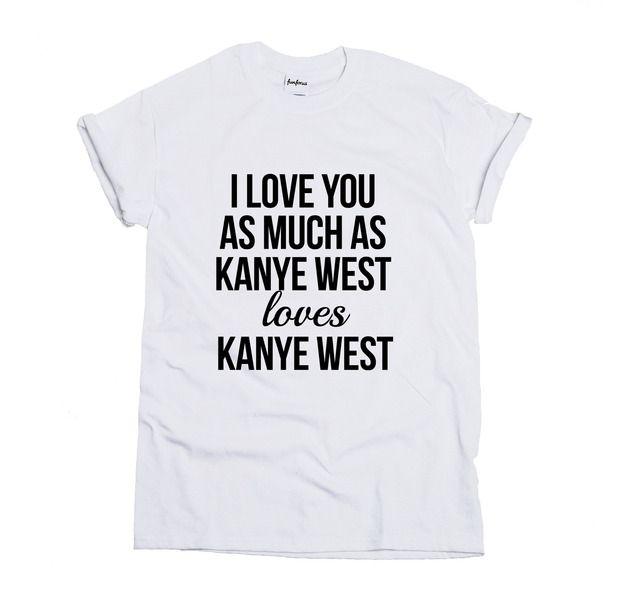 Koszulka Kanye loves Kanye - FUNFORUS - Koszulki z nadrukiem
