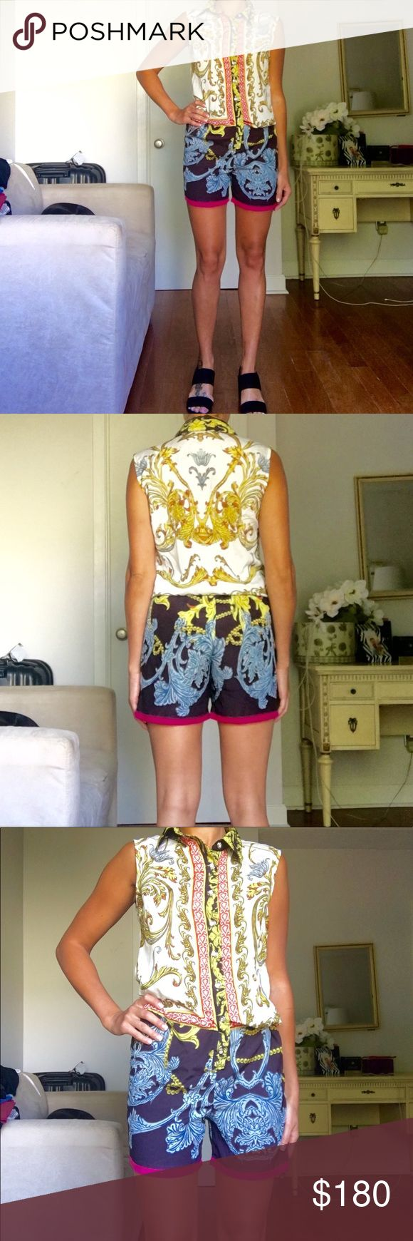 Dolce&Gabana print romber ❤️ Hight quality Romber Dolce&Gabana print, worn few times , excellent condition. Tag say M but will fit on S-M Dolce & Gabbana Shorts