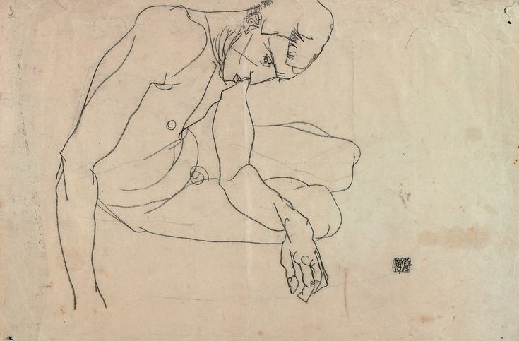 Egon Schiele Drawing