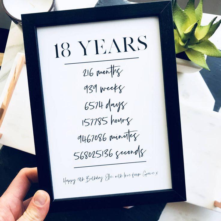 18th Birthday Milestone Print